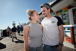 UK ENGLAND BRIGHTON 8SEP16 - Jenni Voyle (20) and Sam Brooker (21) of Manchaster the Brighton beach front.<br /> <br /> jre/Photo by Jiri Rezac<br /> <br /> © Jiri Rezac 2016