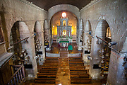 The altar in St. Joseph Parish Church in Las Piñas City, the Philippines. The church is also known as Bamboo Organ Church because it is home to the renowned bamboo organ. (photo by Andrew Aitchison / In pictures via Getty Images)