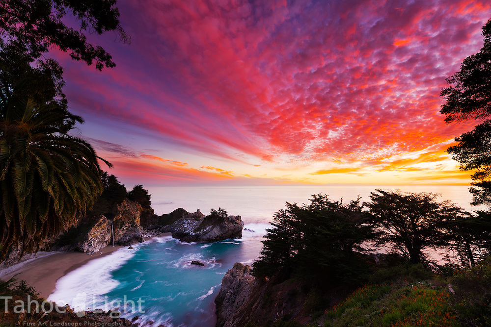 McWay falls at the Big Sur coastline in California