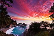 McWay falls at the Big Sur coastline in California