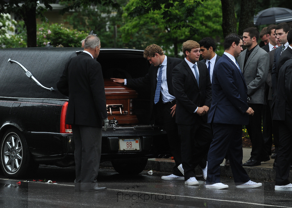 Friends, family, and teammates say goodbye to John Connor Darcey,  known as Connor, who was a Wellesley High School graduate and standout lacrosse goalie at Wellesley H.S. and Penn State University. Darcey was killed Friday morning, June 12, 2015, in a motor vehicle accident.