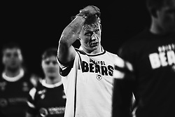 Toby Fricker of Bristol Bears 'A' looks frustrated after Gloucester United win with a late try - Rogan/JMP - 01/04/2019 - RUGBY UNION - Clifton Rugby Club - Bristol, England - Bristol Bears 'A' v Gloucester United.
