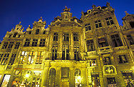 Europe, Belgium, Brussels, houses at the Grand Place, south-west side. -..Europa, Belgien, Bruessel, Haeuser am Grand Place an der Suedwest-Seite.