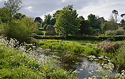 River Leach at Eastleach Martin, The Cotswolds, Gloucestershire, UK