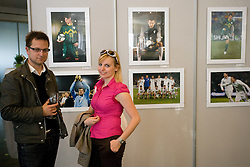 Visitors during opening of Photo exhibition in Hypo bank, on May 19, 2010 in Ciytpark, BTC, Ljubljana, Slovenia. (Photo by Vid Ponikvar / Sportida)