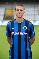 Club's captain Timmy Simons poses for the photographer during the 2015-2016 season photo shoot of Belgian first league soccer team Club Brugge, Friday 17 July 2015 in Brugge