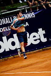 June 22, 2018 - L'Aquila, Italy - Gianluigi Quinzi during match between Guilherme Clezar (BRA) and Gianluigi Quinzi (ITA) during day 7 at the Internazionali di Tennis Citt dell'Aquila (ATP Challenger L'Aquila) in L'Aquila, Italy, on June 22, 2018. (Credit Image: © Manuel Romano/NurPhoto via ZUMA Press)