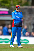 Afghan cricketer Hashmatullah Shaidi in the field during the One Day International match between Scotland and Afghanistan at The Grange Cricket Club, Edinburgh, Scotland on 10 May 2019.
