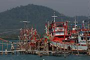 Ban Salak Phet. Fishing boats.