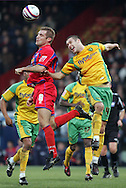London - Tuesday, January 1st, 2008: James Scowcroft (L) of Crystal Palace and Jason Shackell (R) of Norwich City during the Coca Cola Championship match at Selhurst Park, London. (Pic by Mark Chapman/Focus Images)