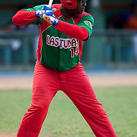 15 February 2009: Joan Carlos Pedroso of the Orientales is seen at bat during a training game of Cuba Baseball Team for the World Baseball Classic 2009. The national team is pitted against itself, divided in two teams called the Occidentales and the Orientales. The Orientales win 12-8, at the Latinoamericano stadium, in la Habana, Cuba.