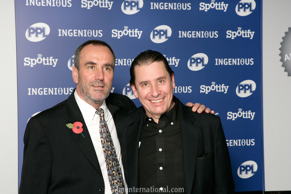 David Munns and Jools Holland, the 2011 MITs Award. Held at the Grosvenor Hotel London in aid of Nordoff Robbins and the BRIT School. Monday, Nov.7, 2011