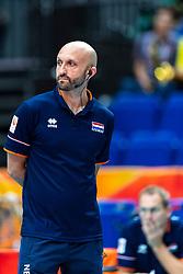 03-10-2018 JPN: World Championship Volleyball Women day 6, Yokohama<br /> Netherlands - Mexico 3-0 / Coach Jamie Morrison