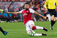 July 15 2017: Arsenal player Olivier Giroud (12) at the International soccer match between English Premier League giants Arsenal and A-League team Western Sydney Wanderers at ANZ Stadium in Sydney.