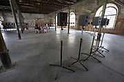 """12th Biennale of Architecture. Arsenale. Janet Cardiff, Canada. """"The Forty Part Motet"""", 2001."""