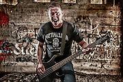 USA, Oregon, Keizer, Bassist. MR, Digital Composite