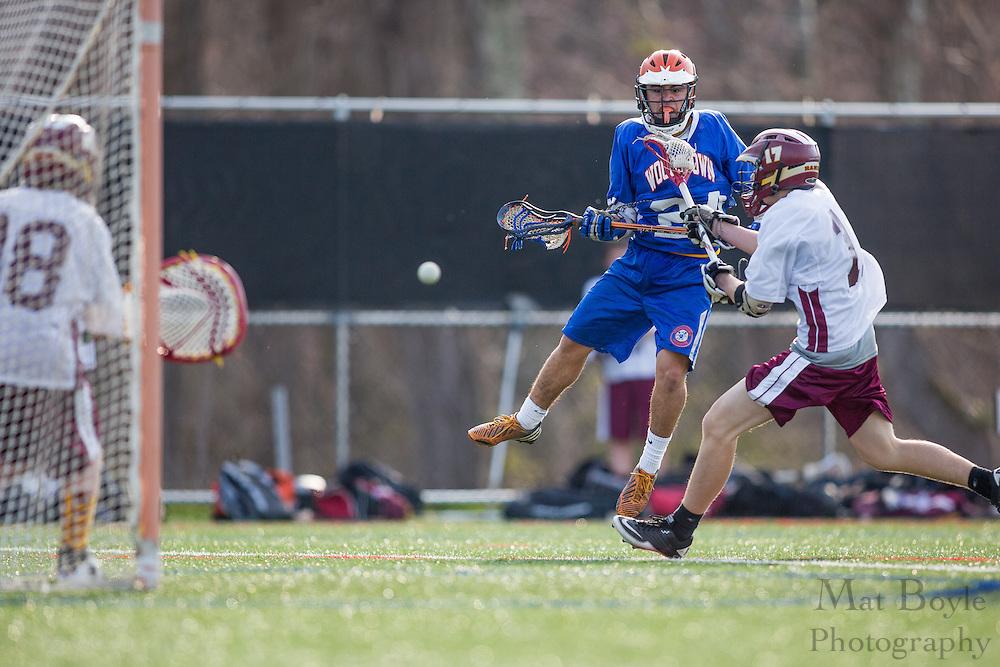 Gloucester Catholic High School Lacrosse vs. Woodstown High School at Total Turf in Pitman, NJ on Monday April 8, 2013. (photo / Mat Boyle)