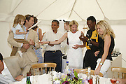 ARPAD BUSSON, CY, HENRY OLONGA AND ELIZABETH GETTY. , Guy Leymarie and Tara Getty host The De Beers Cricket Match. The Lashings Team versus the Old English team. Wormsley. ONE TIME USE ONLY - DO NOT ARCHIVE  © Copyright Photograph by Dafydd Jones 66 Stockwell Park Rd. London SW9 0DA Tel 020 7733 0108 www.dafjones.com
