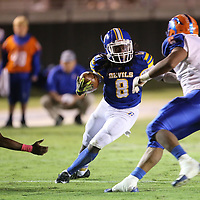 Booneville wide receiver Davian Price moves the ball against North Pontotoc in the second quarter.