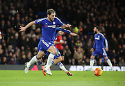 Chelsea defender Branislav Ivanovic with a breakaway during the Barclays Premier League match between Chelsea and West Bromwich Albion at Stamford Bridge, London, England on 13 January 2016. Photo by Matthew Redman.