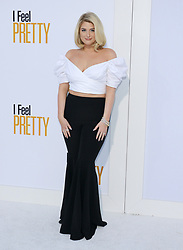 Meghan Trainor at the Los Angeles premiere of 'I Feel Pretty' held at the Regency Village Theatre in Westwood, USA on April 17, 2018.