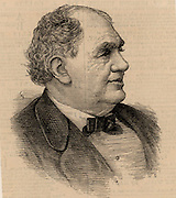 Phineas Taylor Barnum (1810-1891) American showman. Co-founder of the famous Barnum and Bailey circus.  Engraving, 1884..