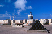 El Morro fortress and lighthouse, San Juan National Historic Site, Old San Juan, Puerto Rico.