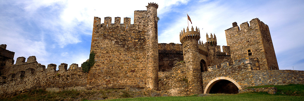 SPAIN, CASTILE and LEON Templar castle, 14C, in Ponferrada, west of Leon