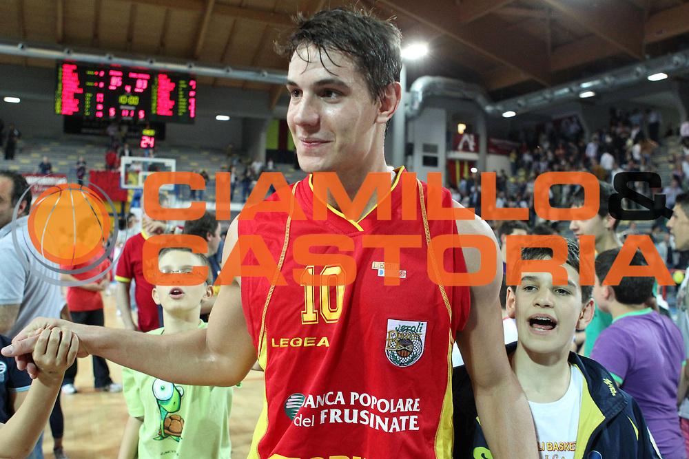 DESCRIZIONE : Frosinone Lega Basket A2 2010-2011 Playoff quarti gara 4 Prima Veroli Immobiliare Spiga Rimini<br /> GIOCATORE : Roberto Rullo        <br /> SQUADRA : Prima Veroli  <br /> EVENTO : Campionato Lega Basket A2 2010-2011<br /> GARA : Prima Veroli Immobiliare Spiga Rimini <br /> DATA : 20/05/2011<br /> CATEGORIA : esultanza         <br /> SPORT : Pallacanestro<br /> AUTORE : Agenzia Ciamillo-Castoria/A.Ciucci<br /> Galleria : Lega Baket A2 2010-2011<br /> Fotonotizia : Frosinone  Lega Basket A2 2010-2011 Playoff quarti gara 4 Prima Veroli Spiga Immobiliare Rimini <br /> Predefinita :