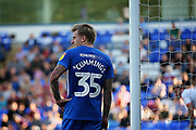 Peterborough United forward Jason Cummings (35) takes a rest during the EFL Sky Bet League 1 match between Peterborough United and Luton Town at London Road, Peterborough, England on 18 August 2018.
