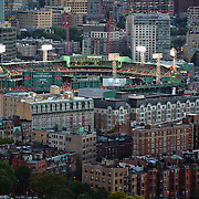 -Boston, MA, September 17,  2013-<br /> <br /> Fenway Park Aerial photographs taken during a game between the Boston Red Sox and the Baltimore Orioles on September 17, 2013 in Boston, Massachusetts. <br /> <br />  (Photo by Michael Ivins/Boston Red Sox)