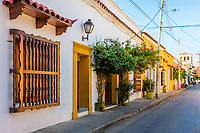 Colorful streets of Getsemani<br /> aera of Cartagena de los indias Bolivar in Colombia South America