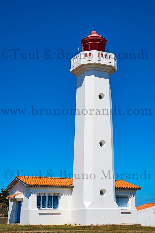 France, Vendée (85), Ile d'Yeu, Pointe des Corbeaux, le Phare // France, Vendée, Yeu island, Pointe des Corbeaux, lighthouse