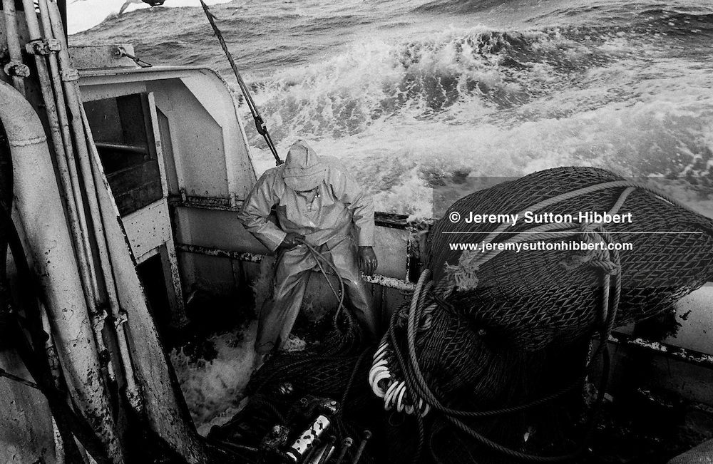 """ABOARD THE SEINE NETTER """"ARGOSY"""", ON THE NORTH SEA, SCOTLAND, FEBRUARY 1995.."""