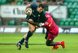 George Simpson of London Irish is tackled - Mandatory by-line: Robbie Stephenson/JMP - 28/07/2017 - RUGBY - Franklin's Gardens - Northampton, England - Harlequins v London Irish - Singha Premiership Rugby 7s