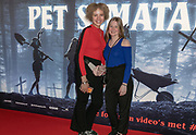 2019, March 28. Pathe ArenA, Amsterdam, the Netherlands. Charlotte Arts (r) at the dutch premiere of Pet Sematary.