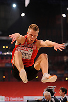 ATHLETICS - INDOOR EUROPEAN CHAMPIONSHIPS PARIS-BERCY 2011 - FRANCE - DAY 2 - 05/03/2011 - PHOTO : JULIEN CROSNIER / DPPI -<br /> MEN'S LONG JUMP - FINALE - GOLD MEDAL - SEBASTIEN BAYER (GER)