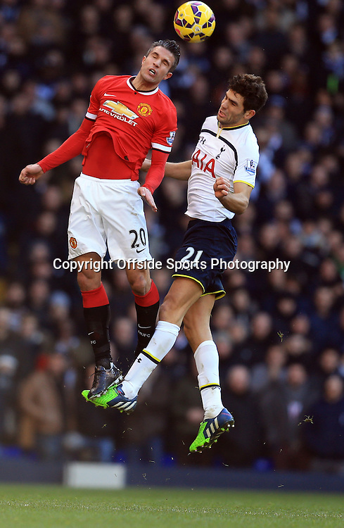 28 December 2014 - Barclays Premier League - Tottenham Hotspur v Manchester United - Robin van Persie of Manchester United in action with Federico Fazio of Tottenham Hotspur - Photo: Marc Atkins / Offside.
