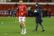 Nottingham Forest defender Joe Worrall  warming up during the EFL Sky Bet Championship match between Nottingham Forest and Charlton Athletic at the City Ground, Nottingham, England on 11 February 2020.