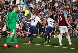 Harry Kane of Tottenham Hotspur (C) celebrates after scoring his sides first goal - Mandatory by-line: Jack Phillips/JMP - 23/02/2019 - FOOTBALL - Turf Moor - Burnley, England - Burnley v Tottenham Hotspur - English Premier League