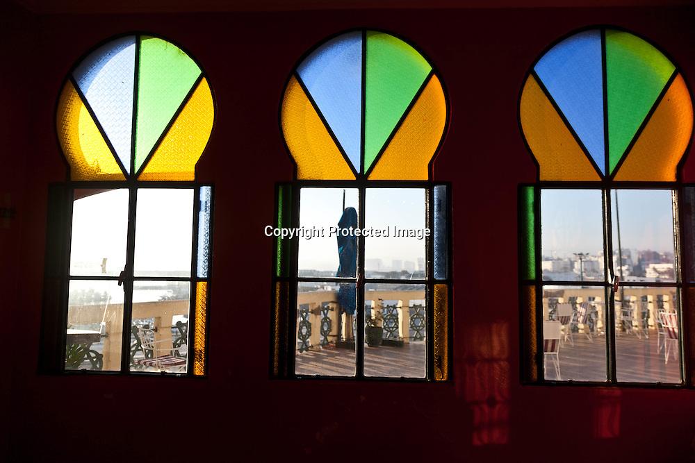 Morroco, Tangier, Old medina, hotel Continental indoors
