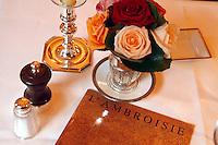 l'Ambroisie, Chef Bernard Pacaud, Place des Vosges, Paris<br /> <br /> l'Ambroisie is a Michelin three star restaurant