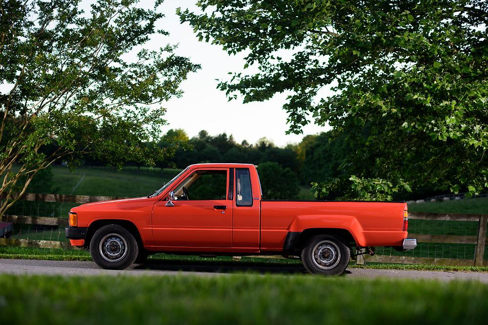 Cockeysville, Maryland - June 08, 2017: 1984 Toyota Pickup. Orange.<br /> <br /> CREDIT: Matt Roth