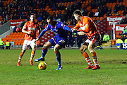 Oldham Athletic Forward, Rhys Murphy during the Sky Bet League 1 match between Blackpool and Oldham Athletic at Bloomfield Road, Blackpool, England on 16 February 2016. Photo by Pete Burns.