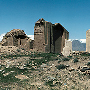 12 April 1976<br /> Kabul. Closer view of the large domed structures located at some distance north of the shrine of Pacha Sahib. Referred to as the graves of unspecified martyrs (Shaheed).