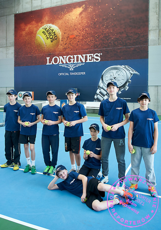 competes during the Longines Future Tennis Aces 2015 at Tuan Tennis Club in Jozefoslaw near Warsaw on April 10, 2015.<br /> <br /> Poland, Warsaw, April 10, 2015<br /> <br /> Picture also available in RAW (NEF) or TIFF format on special request.<br /> <br /> For editorial use only. Any commercial or promotional use requires permission.<br /> <br /> Mandatory credit:<br /> Photo by &copy; Adam Nurkiewicz / Mediasport