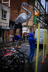 UK ENGLAND LONDON 4NOV12 - Street scene on Brick Lane in London's trendy east end.....jre/Photo by Jiri Rezac....© Jiri Rezac 2012