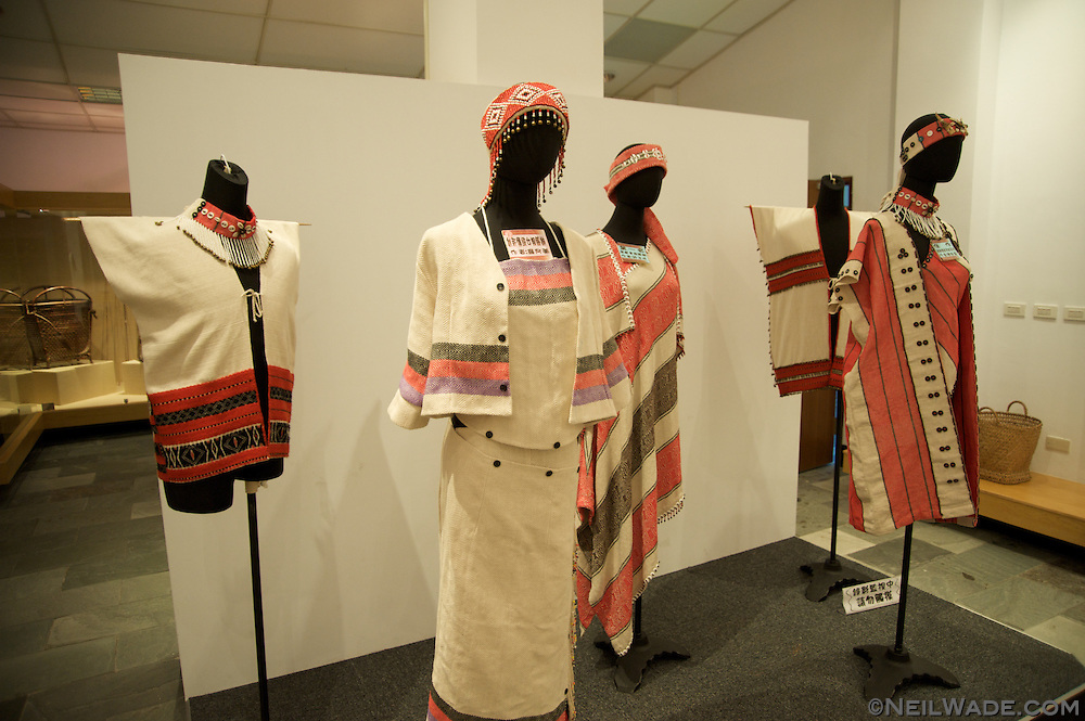 Traditinal aboriginal clothing as seen in the Aboriginal Culture Museum in Yilan, Taiwan.