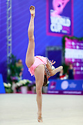 Salos Anastasiia during final at ball in Pesaro World Cup at Adriatic Arena on April 15, 2015. Anastasiia born on February 18 ,2002 in Barnaul. She is a rhythmic gymnast member of the Belarusian National Team.