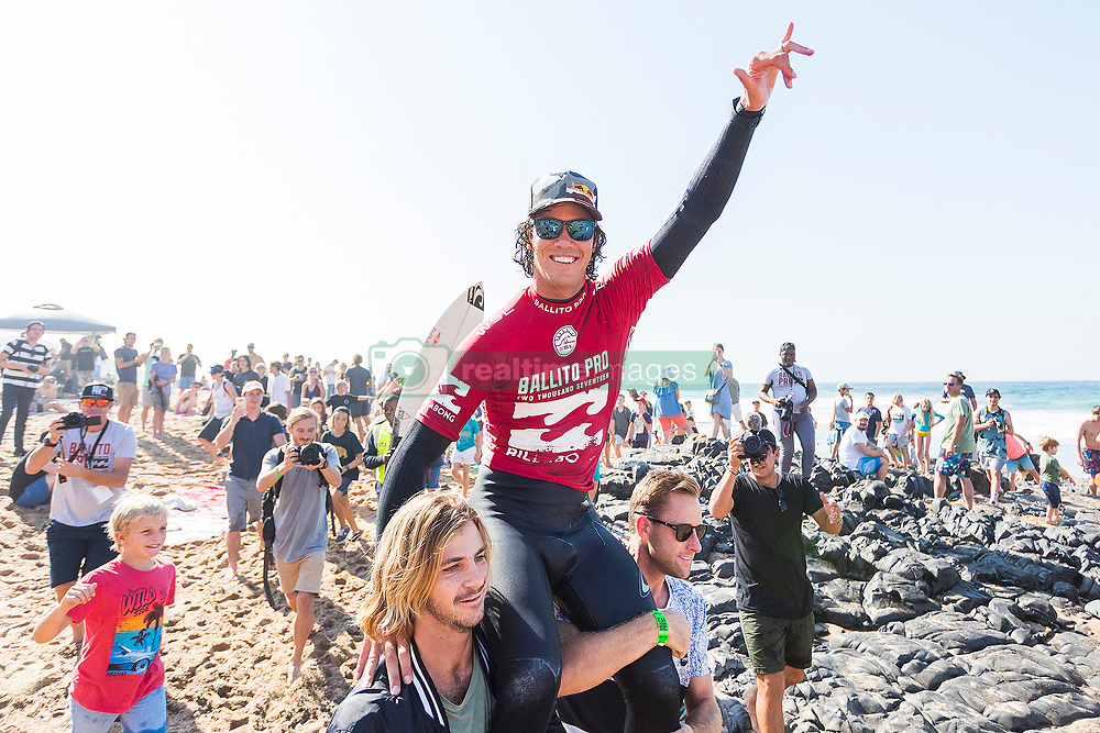 Jul 8, 2017 - KwaDukuza, South Africa - Jordy Smith of South Africa has won The Ballito Pro presented by Billabong for the second time in his career at Willard Beach, Ballito, South Africa.  Smith defeated Willian Cardoso of Brazil in the final to claim the illustrious title Ballito Pro Champion and US$40,000 in prizemoney (Credit Image: © Kelly Cestari via ZUMA Wire)